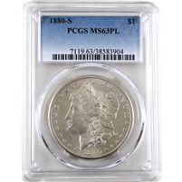 1880 S USA Dollar PCGS Certified MS-63 (PL)