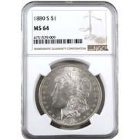 1880 S USA Dollar NGC Certified MS-64