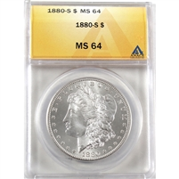 1880 S USA Dollar ANACS Certified MS-64