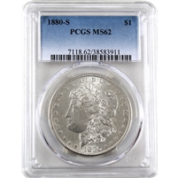 1880 S USA Dollar PCGS Certified MS-62