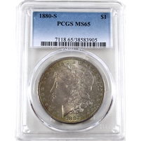 1880 S USA Dollar PCGS Certified MS-65
