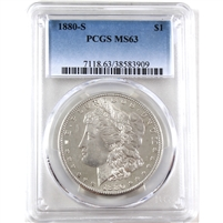 1880 S USA Dollar PCGS Certified MS-63 (Spots)