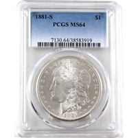 1881 S USA Dollar PCGS Certified MS-64