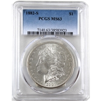 1882 S USA Dollar PCGS Certified MS-63