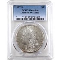 1887 S USA Dollar PCGS Certified AU Details (cleaned)
