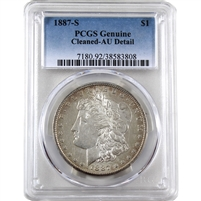 1887-S USA Dollar PCGS Certified AU Details (cleaned)