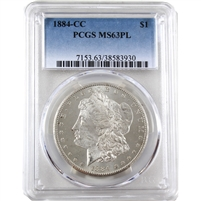 1884 CC USA Dollar PCGS Certified MS-63 (PL)