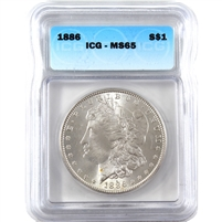 1886 USA Dollar ICG Certified MS-65