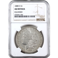 1888 S USA Dollar NGC Certified AU Details (cleaned)