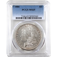 1886 USA Dollar PCGS Certified MS-65