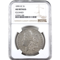 1890 CC USA Dollar NGC Certified AU Details (cleaned)