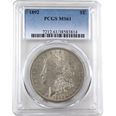 1892 USA Dollar PCGS Certified MS-61