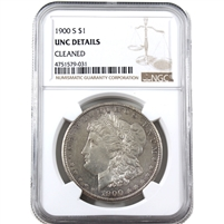 1900 S USA Dollar NGC Certified UNC Details (cleaned)