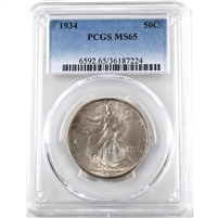1934 USA Half Dollar PCGS Certified MS-65