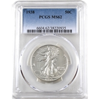 1938 USA Half Dollar PCGS Certified MS-62