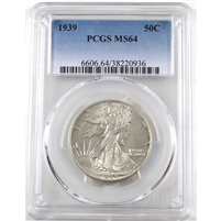 1939 USA Half Dollar PCGS Certified MS-64