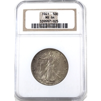 1941 USA Half Dollar NGC Certified MS-64