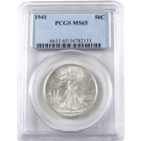 1941 USA Half Dollar PCGS Certified MS-65