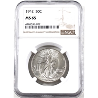 1942 USA Half Dollar NGC Certified MS-65