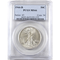 1944 D USA Half Dollar PCGS Certified MS-66