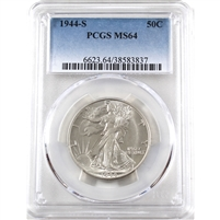 1944 S USA Half Dollar PCGS Certified MS-64