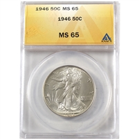 1946 USA Half Dollar ANACS Certified MS-65