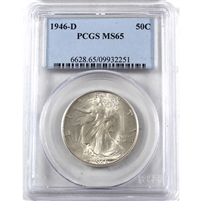 1946 D USA Half Dollar PCGS Certified MS-65