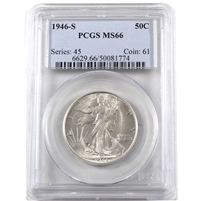 1946 S USA Half Dollar PCGS Certified MS-66