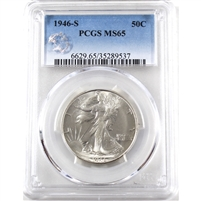 1946 S USA Half Dollar PCGS Certified MS-65