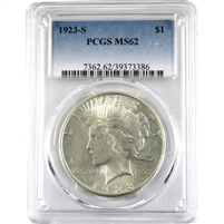 1923S USA Dollar PCGS Certified MS-62