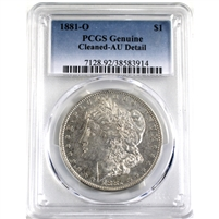 1881O USA Dollar PCGS Certified AU-50 Detail (Cleaned)
