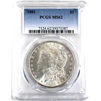 1881 USA Dollar PCGS Certified MS-62