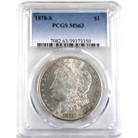 1878S USA Dollar PCGS Certified MS-63