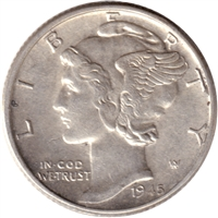 1945 USA Dime Almost Uncirculated (AU-50)