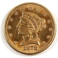 1878 USA $2.50 Gold Quarter Eagle AU-UNC (AU-55) Scratched