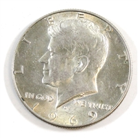 1969 D USA Half Dollar Circulated