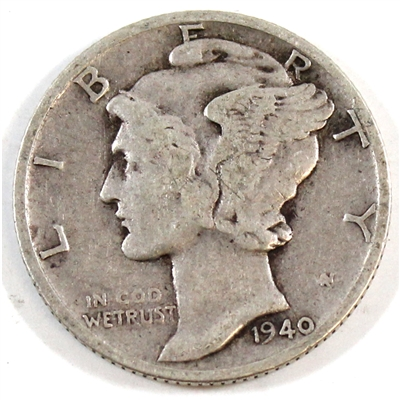 1940 USA Dime Circulated