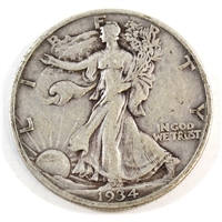 1934 USA Half Dollar Circulated