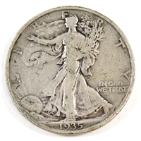 1935 S USA Half Dollar Circulated
