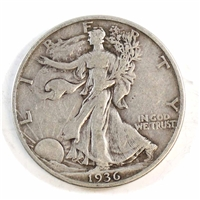1936 D USA Half Dollar Circulated