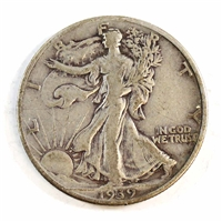 1939 USA Half Dollar Circulated