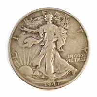 1947 D USA Half Dollar Circulated
