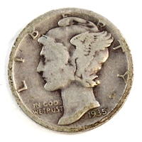 1935 S USA Dime Circulated