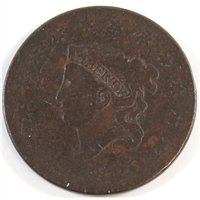 1820 Large Date Plain Top 2 USA Cent About Good (AG-3)