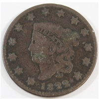 1822 USA Cent Very Good (VG-8)