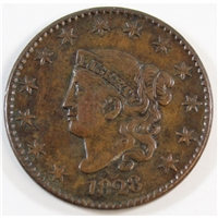 1828 Large Narrow Date USA Cent Almost Uncirculated (AU-50)