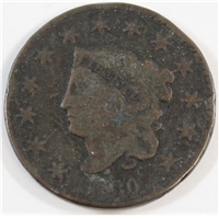 1830 Large Letters USA Cent VG-F (VG-10)