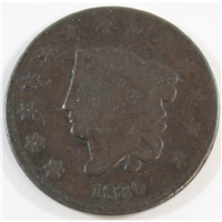 1830 Large Letters USA Cent G-VG (G-6)