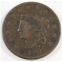 1831 Large Letters USA Cent F-VF (F-15)