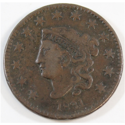 1831 Large Letters USA Cent F-VF (F-15) $